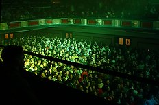 [The Parr Hall was full to burtsing.]