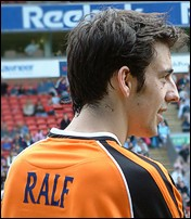 [Actor Ralf Little helped the So Solid crew to the quarter finals.]