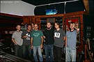 The studio team working on the album; Barry, Ben, Doug, Rob, Eric, James and Stel.
